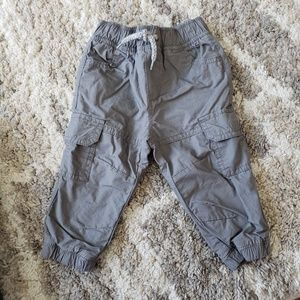 Crazy 8 Bottoms - 🌈NWT baby boy gray lined cargo joggers